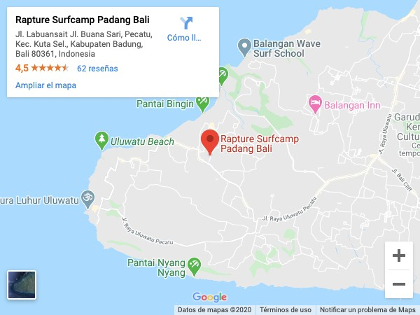 Rapture surf camp padang padang